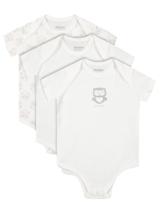 Primigi Primigi Lot de 3 bodys 44426521 Blanc