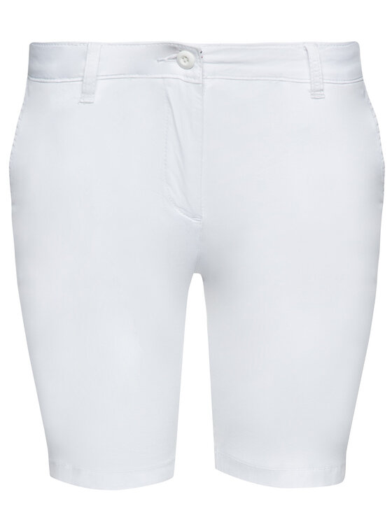 Napapijri Napapijri Short en tissu Noridian 1 N0YHH9 Blanc Slim Fit