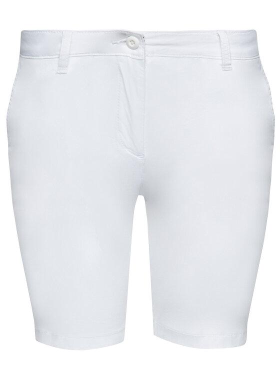 Napapijri Napapijri Σορτς υφασμάτινο Noridian 1 N0YHH9 Λευκό Slim Fit