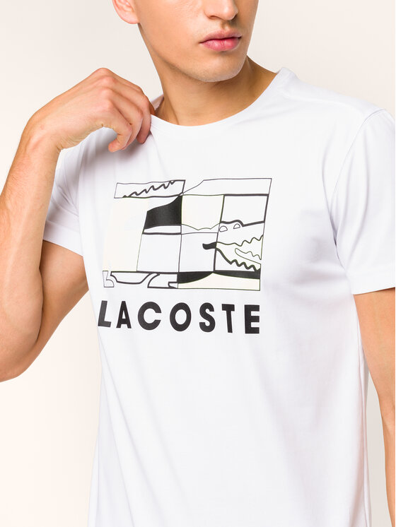 Lacoste Lacoste T-shirt TH8425 Bianco Regular Fit
