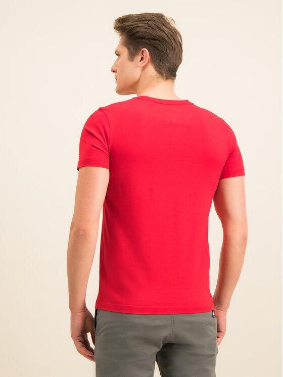 Tommy Hilfiger Tommy Hilfiger T-Shirt Corp Circular Tee MW0MW12532 Červená Regular Fit