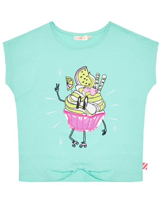Billieblush Marškinėliai U15883 Žalia Regular Fit