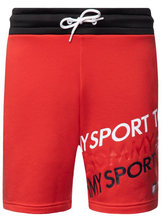 Tommy Sport Tommy Sport Αθλητικό σορτς Graphic Knit S20S200127 Κόκκινο Regular Fit