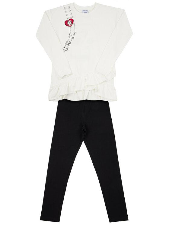 Primigi Primigi Σετ μπλουζάκι και κολάν Fashion Academy 44193501 Λευκό Regular Fit