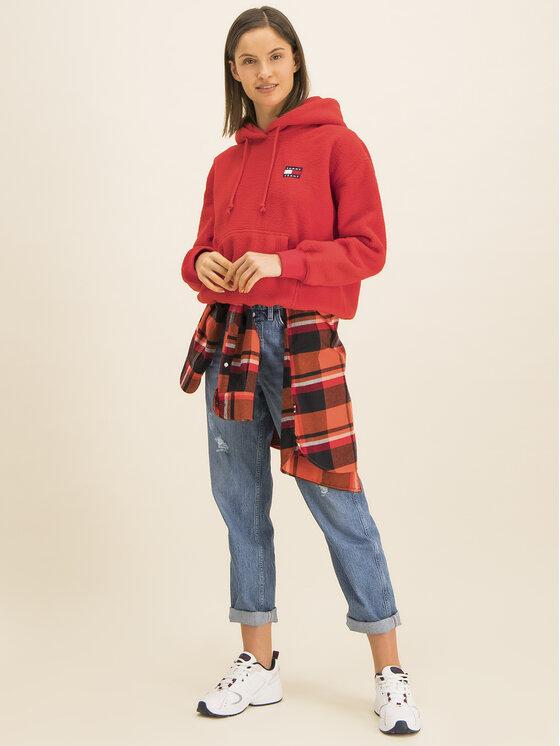 Tommy Jeans Tommy Jeans Bluza Tjw Tommy Polar DW0DW07806 Czerwony Relaxed Fit