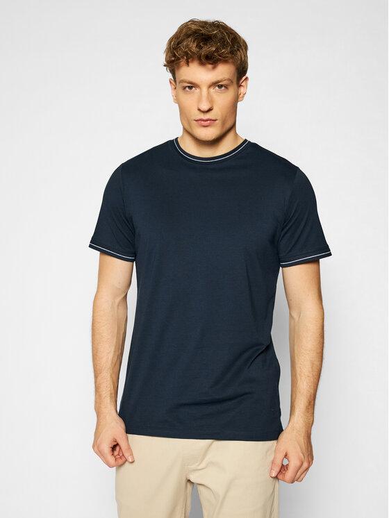 Jack&Jones PREMIUM Marškinėliai Blalucas 12184760 Tamsiai mėlyna Regular Fit