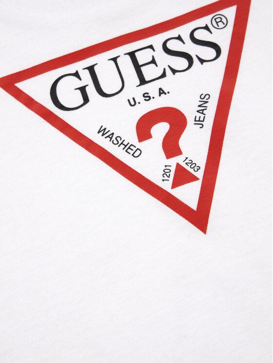 Guess Guess Tricou I91I11 K5M20 Alb Regular Fit