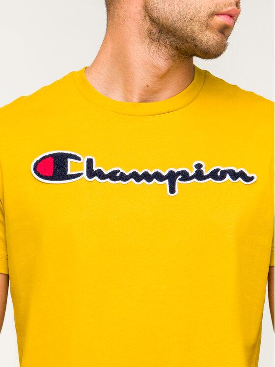 Champion Champion Tričko Script Logo 213521 Žltá Comfort Fit