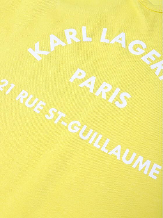 KARL LAGERFELD KARL LAGERFELD Sukienka codzienna Z12148 M Żółty Regular Fit