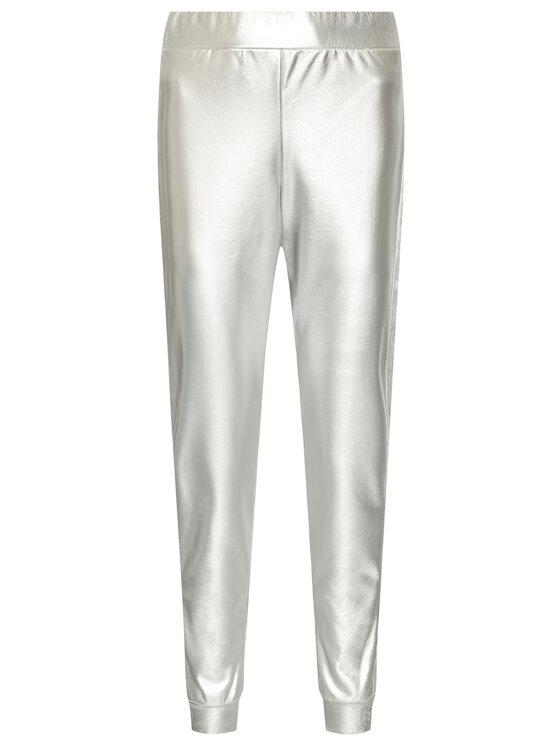 John Richmond John Richmond Spodnie z imitacji skóry Giunilda UWP21030PA Srebrny Regular Fit