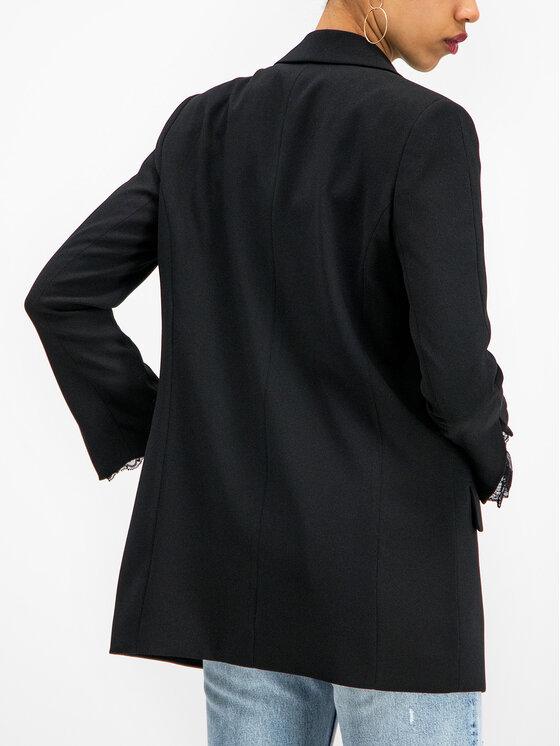 The Kooples The Kooples Сако Marta Crepe FVES18063K Черен Regular Fit