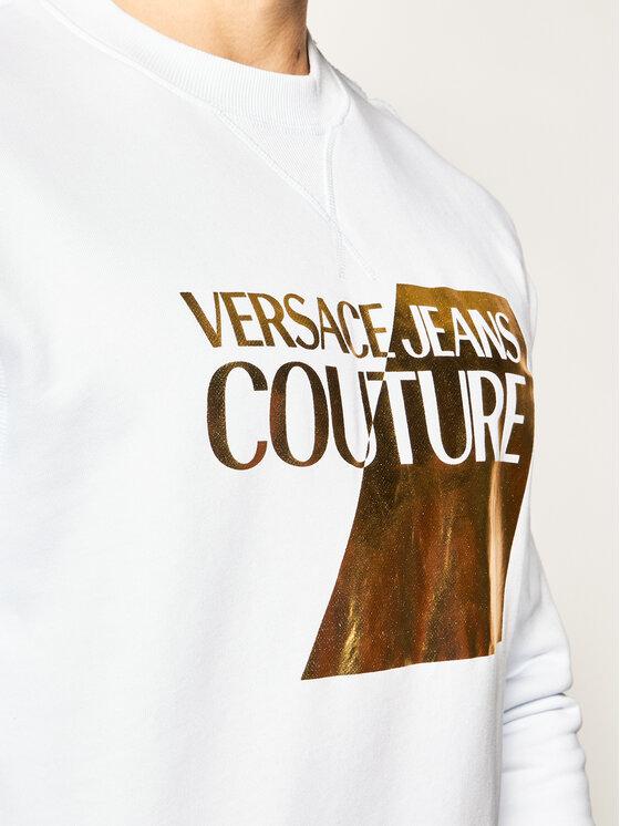 Versace Jeans Couture Versace Jeans Couture Džemperis B7GVB7TQ Balta Regular Fit