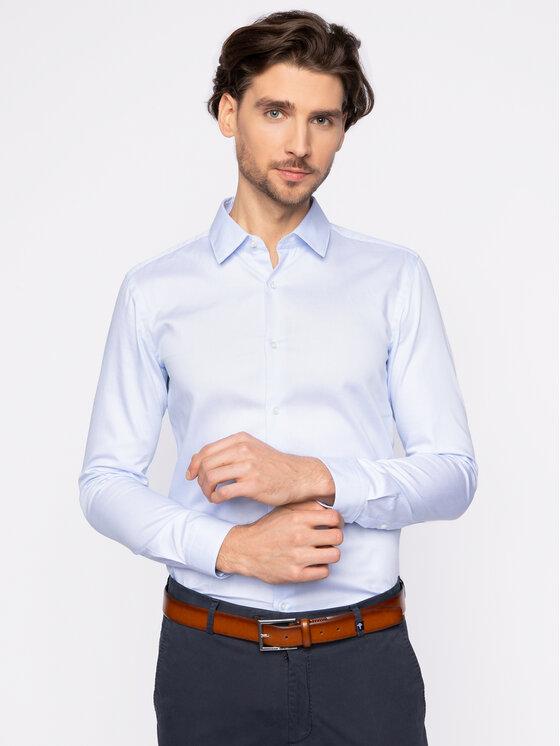 Boss Boss Košile Isko 50427952 Modrá Slim Fit