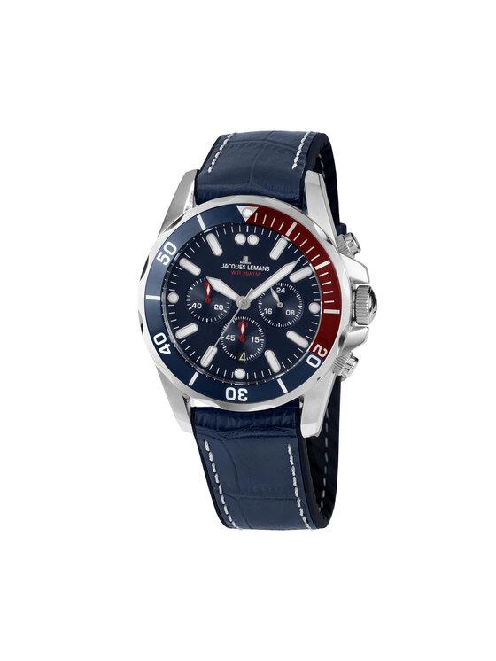 Jacques Lemans Laikrodis 1-2091B Tamsiai mėlyna