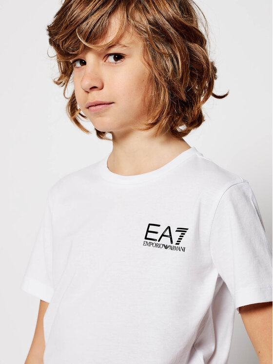 EA7 Emporio Armani EA7 Emporio Armani T-Shirt 6HBT51 BJ02Z 1100 Biały Regular Fit