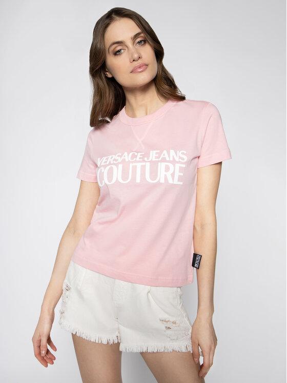 Versace Jeans Couture Versace Jeans Couture T-Shirt B2HVA7X0 Ροζ Regular Fit