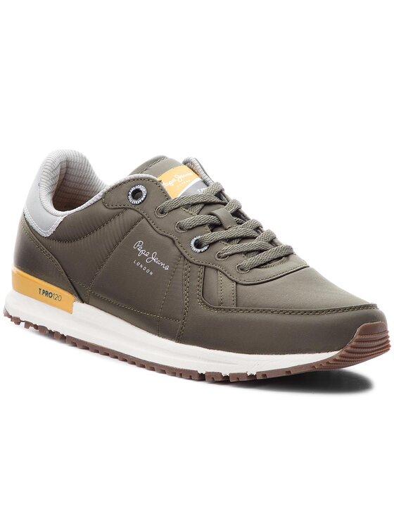 Pepe Jeans Pepe Jeans Sneakersy Tinker PMS30486 Zielony