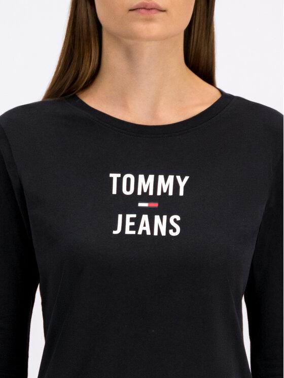 Tommy Jeans Tommy Jeans Bluzka Tjw Square DW0DW07159 Czarny Regular Fit