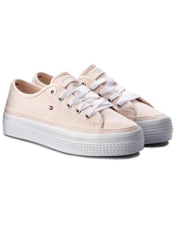 Tommy Hilfiger Tommy Hilfiger Πάνινα παπούτσια Pastel Flatform Sneaker FW0FW02994 Ροζ
