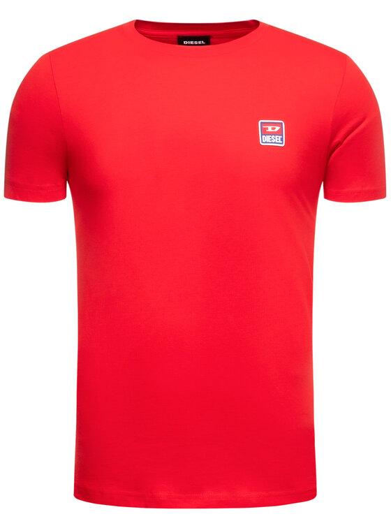 Diesel Diesel Marškinėliai T-Diego 00SZ7W 0PATI Raudona Regular Fit