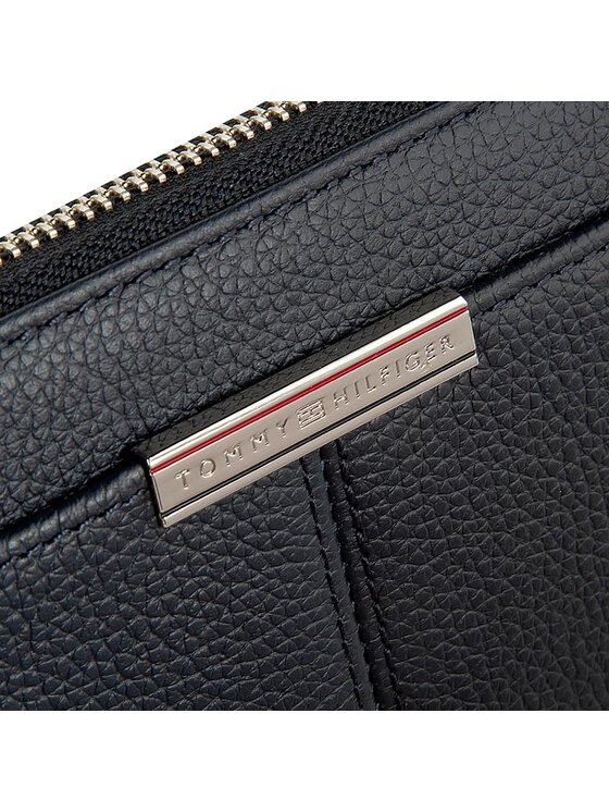 Tommy Hilfiger Tommy Hilfiger Duży Portfel Damski City Leather Z/A Wallet AW0AW01693 Granatowy