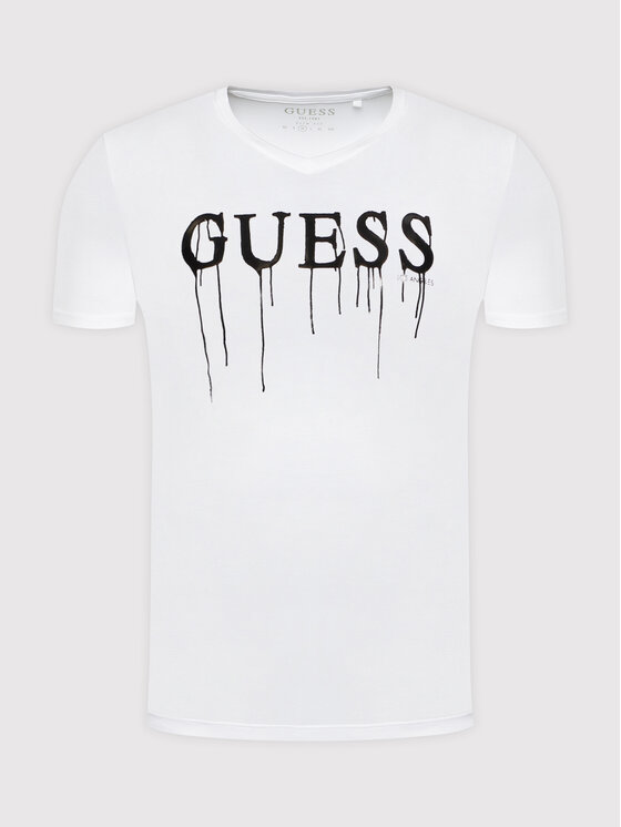 Guess Guess T-Shirt M0YI0X J1300 Biały Slim Fit