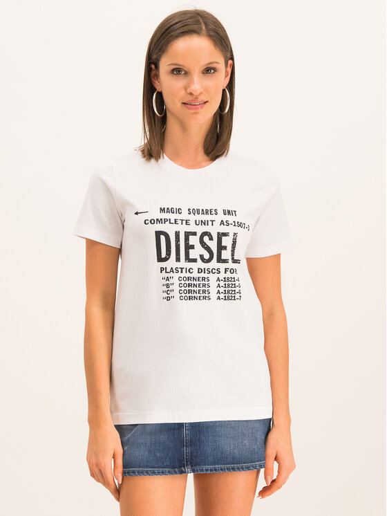 Diesel Diesel T-shirt T-Sily-Zf 00SYVT 0091A Bianco Regular Fit