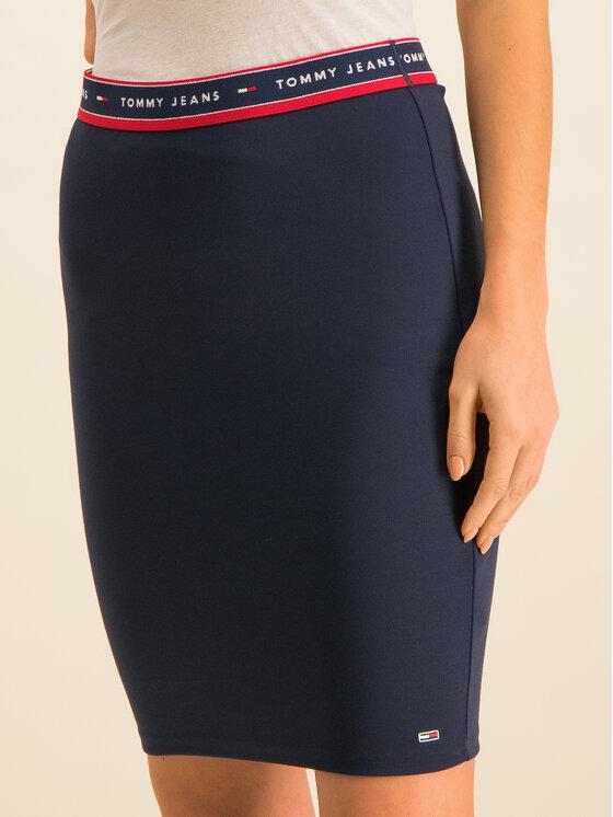 Tommy Jeans Tommy Jeans Spódnica ołówkowa Bodycon DW0DW07634 Granatowy Slim Fit