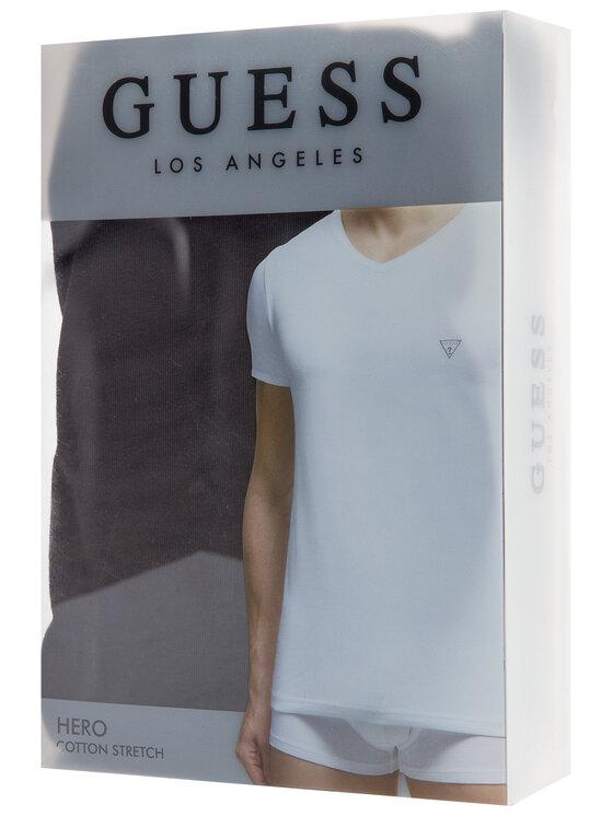 Guess Guess Tricou U97M01 JR003 Negru Slim Fit
