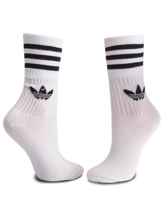 adidas adidas Zestaw 3 par wysokich skarpet unisex Mid Cut Crw Sck DX9091 Biały