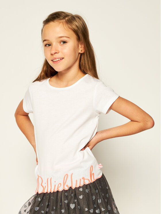 Billieblush Marškinėliai U15733 Balta Regular Fit
