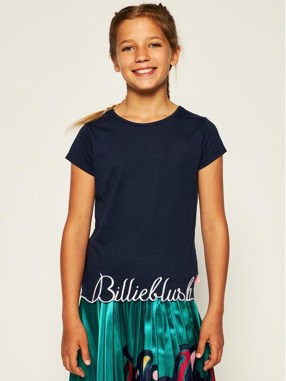 Billieblush Marškinėliai U15733 Tamsiai mėlyna Regular Fit