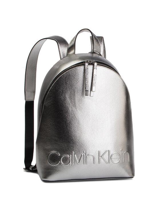 Calvin Klein Calvin Klein Rucsac Edged Backpack Met K60K605204 Argintiu