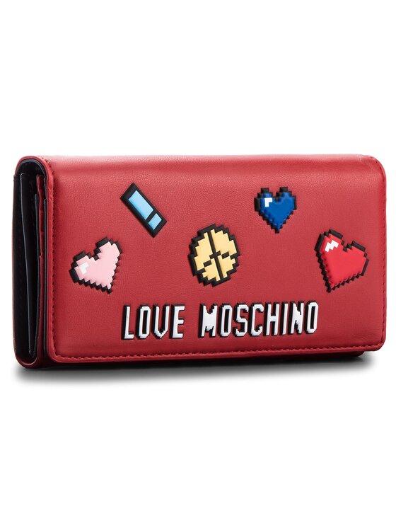 LOVE MOSCHINO LOVE MOSCHINO Голям дамски портфейл JC5522PP15LH0500 Червен