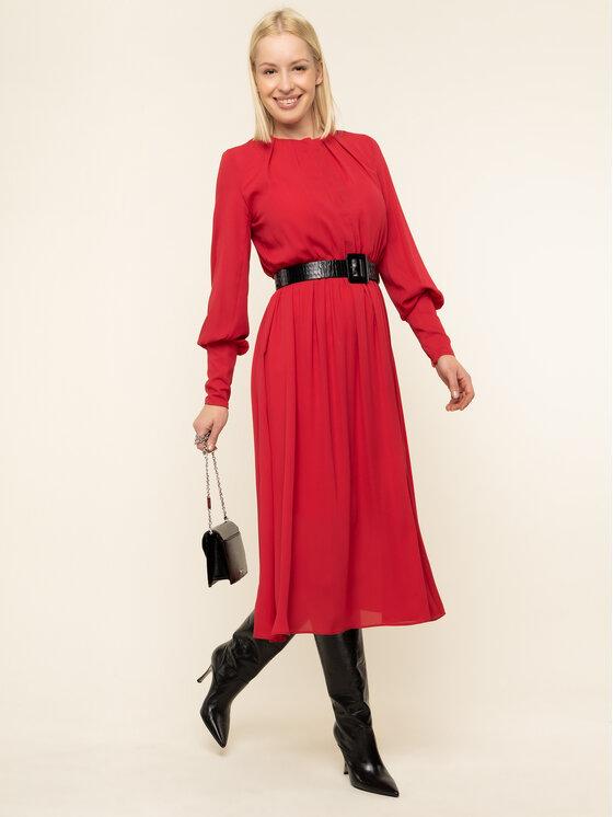 iBlues iBlues Sukienka koktajlowa 72262896200 Czerwony Regular Fit