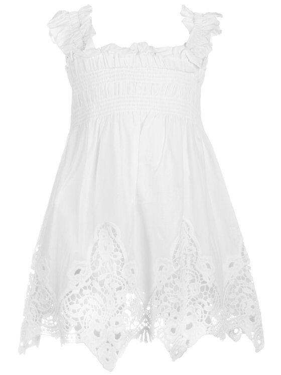 Mayoral Mayoral Elegantní šaty 3940 Bílá Regular Fit