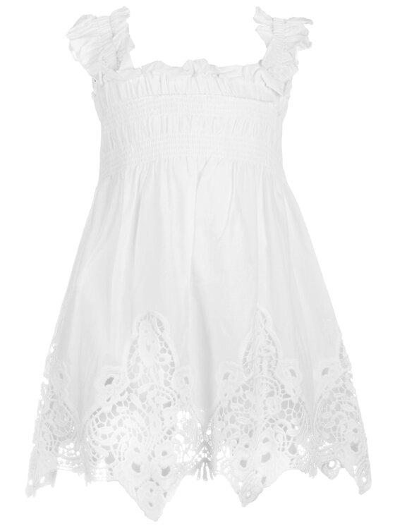 Mayoral Mayoral Sukienka elegancka 3940 Biały Regular Fit
