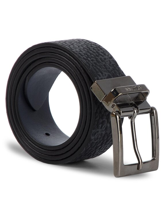 Guess Guess Vyriškas Diržas City Logo Belts BM7173 LEA35 Juoda
