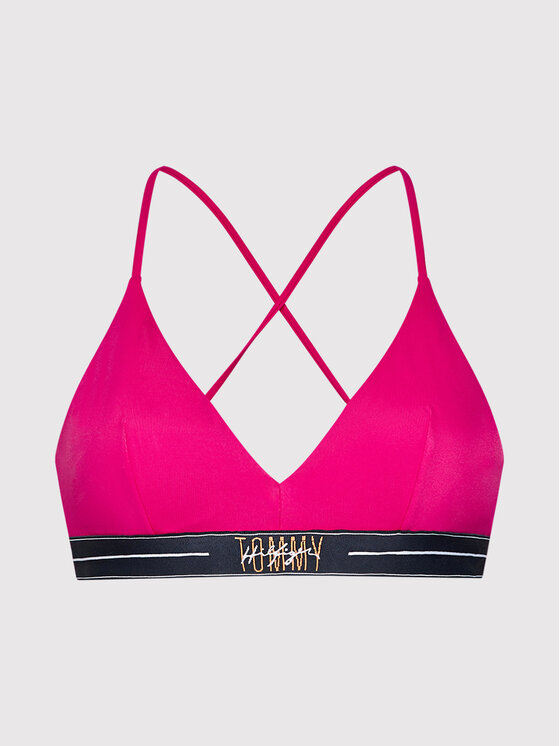 Tommy Hilfiger Tommy Hilfiger Góra od bikini Triangle Fixed UW0UW03050 Różowy