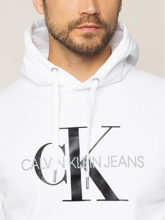 Calvin Klein Jeans Calvin Klein Jeans Sweatshirt Monogram Logo Hoodie J30J315417 Weiß Regular Fit