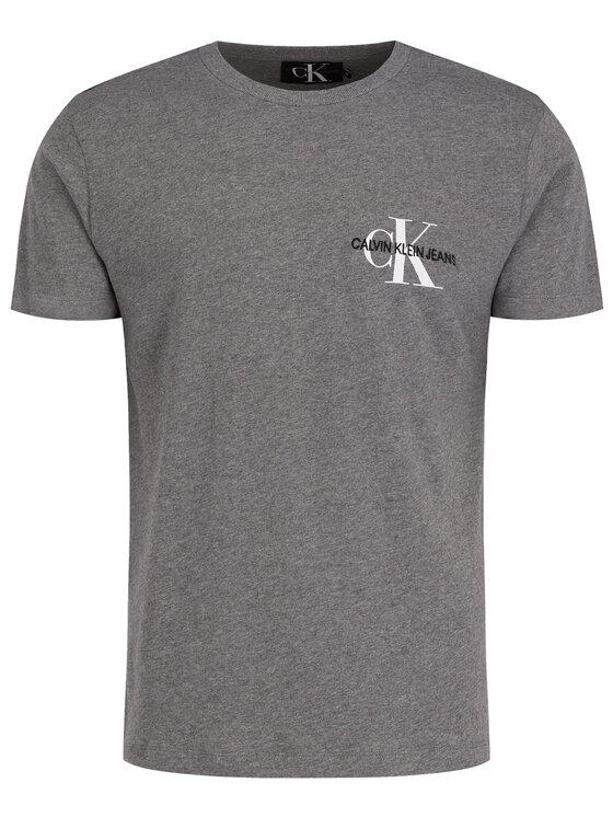Calvin Klein Jeans Calvin Klein Jeans T-Shirt Monogram Embro J30J313438 Šedá Regular Fit