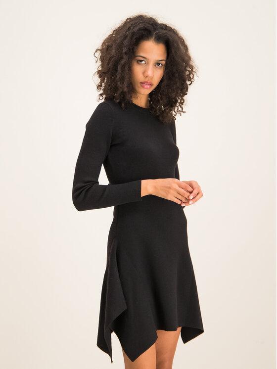 MICHAEL Michael Kors MICHAEL Michael Kors Trikotažinė suknelė Wool-Blend Handkerchief MF98Z41CHN Juoda Slim Fit
