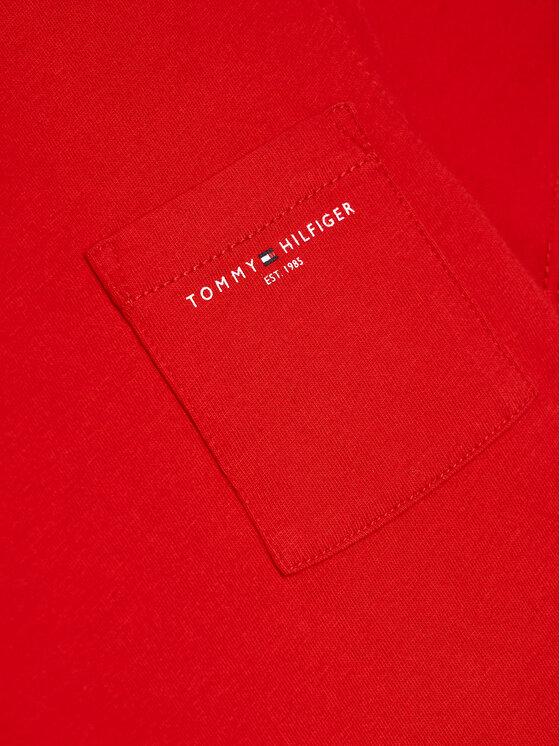 Tommy Hilfiger Tommy Hilfiger T-Shirt Essential Pocket KB0KB06556 M Czerwony Regular Fit