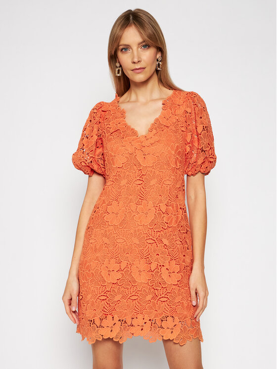 Ermanno Firenze Kokteilinė suknelė AB41MAC Oranžinė Regular Fit