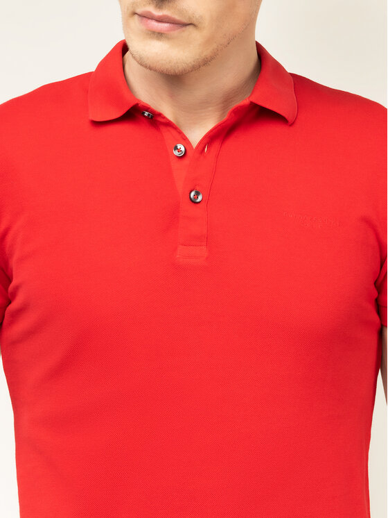 Baldessarini Baldessarini Polo Pino Nos 47408/000/5346 Czerwony Slim Fit