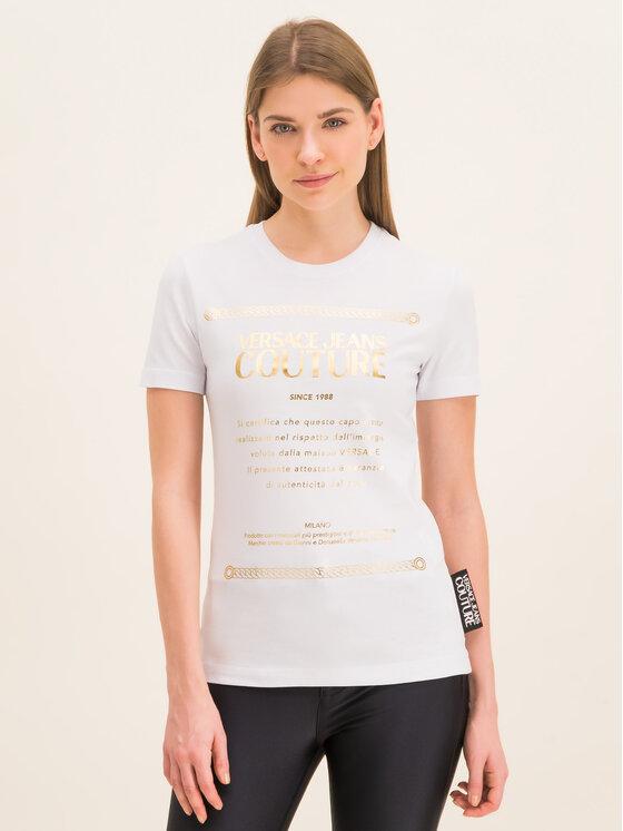 Versace Jeans Couture Versace Jeans Couture Póló B2HVA7T1 Fehér Regular Fit