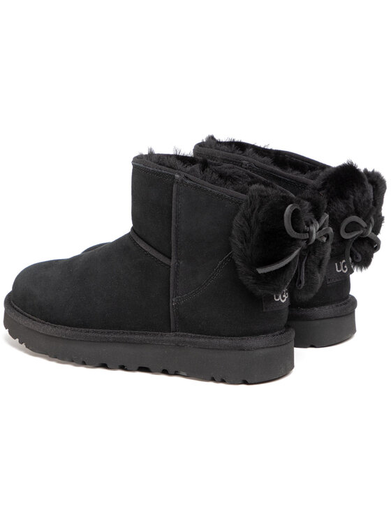 Ugg Ugg Pantofi W Classic Mini Bow Negru