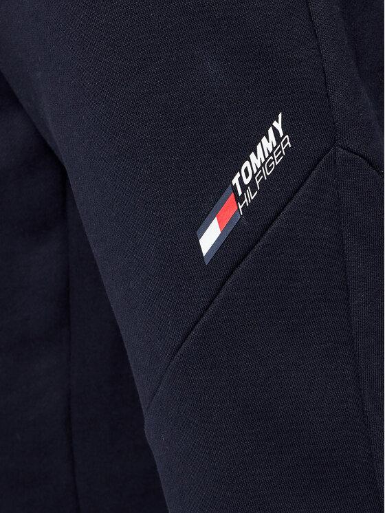 Tommy Hilfiger Tommy Hilfiger Spodnie dresowe Terry Logo MW0MW18462 Granatowy Regular Fit