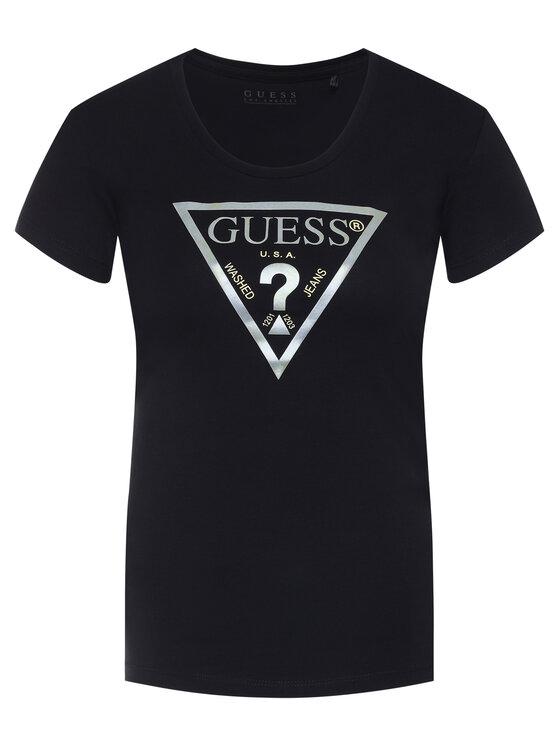 Guess Guess T-Shirt Peace Tee W0GI77 J1300 Černá Slim Fit