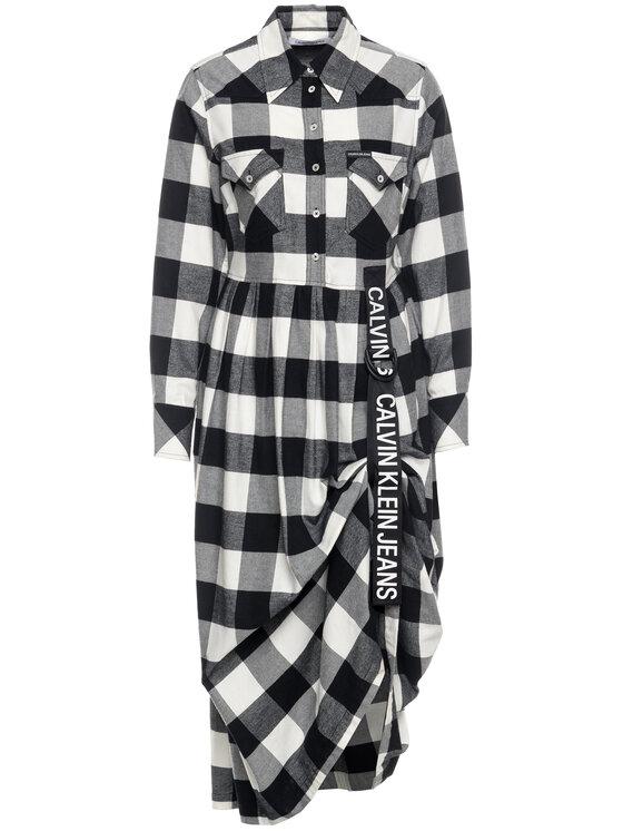 Calvin Klein Jeans Calvin Klein Jeans Robe chemise Buffalo Check B&W J20J212262 Gris Regular Fit